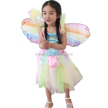 new quality girls elsa anna cosplay fairy costume for halloween - Halloween Anna Costume