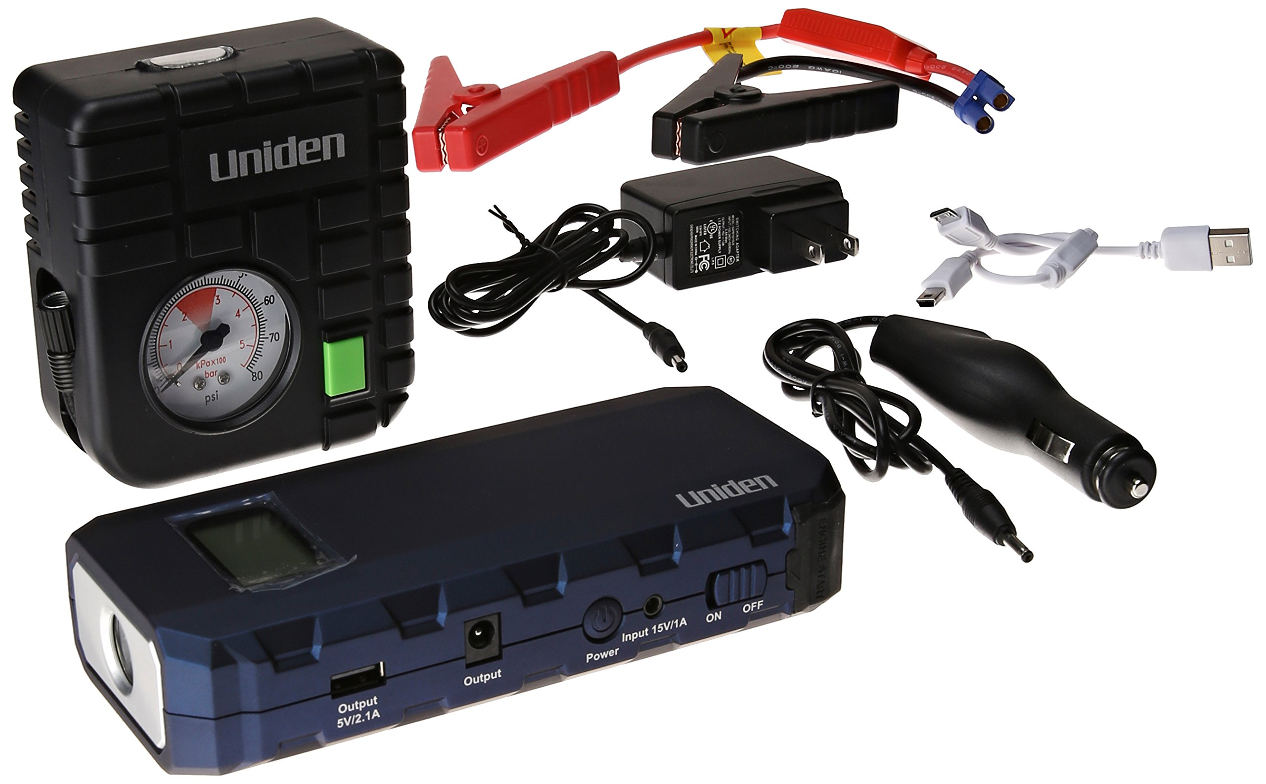 Uniden UPP120RBL Auto Emergency Power Pack with 12000mAh Jump Starter/Air Pump