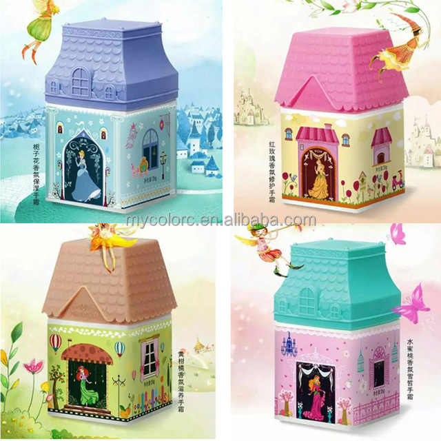 M4021 35g lovely small house Hand cream christmas decoration gifts hand lotion moisturizing cream hand and foot whitening cream