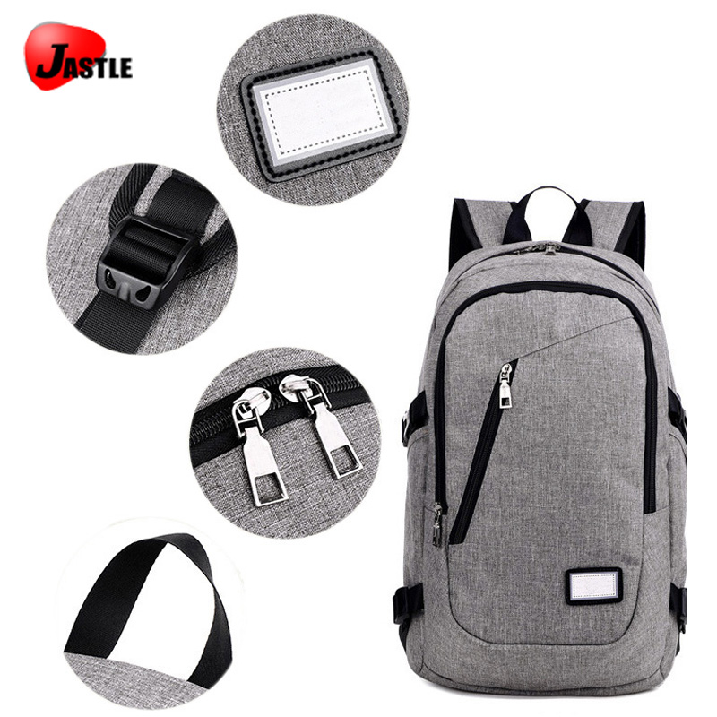 Fashion Plain Traveling School Outdoor Backpack Laptop Sport Waterproof Supermarket USB Anti Theft Bag Shopping Backpack