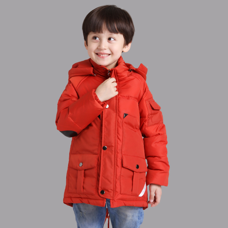 2015 Kids Down Clothing Winter Outwear High-quality Baby Boys Winter Coat Windproof Warm Boys Winter Jacket For 4-13 T 3 Colors
