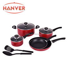 Termurah 10 Pcs Non-stick Coating <span class=keywords><strong>Aluminium</strong></span> Cookware <span class=keywords><strong>Set</strong></span>