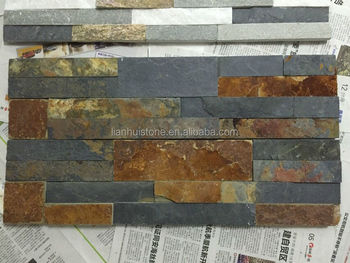 Cs049 Natural Stone Exterior Wall Cladding Rusty Slate Culture Stone Ledge St