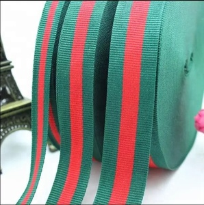 Custom designed high quality ribbon red and green christmas ribbon
