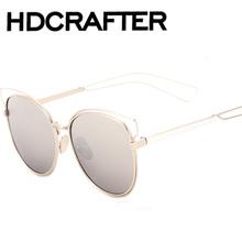 a96d57648 2016 Nova Moda Óculos De Sol Das Mulheres Revestimento Designer De Óculos  De Sol Marca Popular