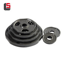 Hot selling black barbell iron adjustable weight plates