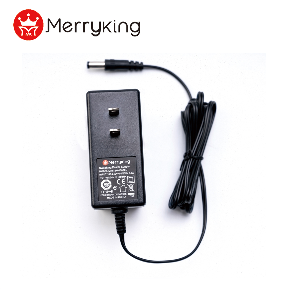 100-240v 12v adapter safety mark approved US plug DOE VI 24W adapter for neon light