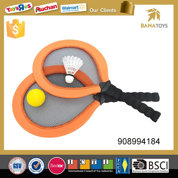 Beach toy soft tennis racket with 2 <strong>balls</strong>