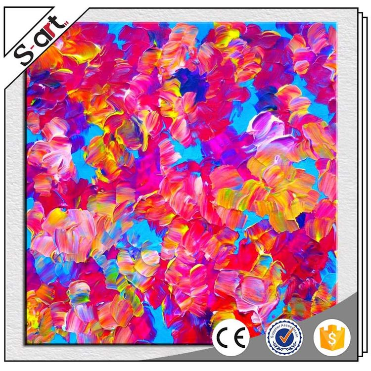 Promotional funny simple abstract red flower oil painting