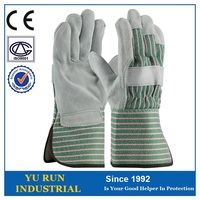 Split Cow welding industry safety working leather glove