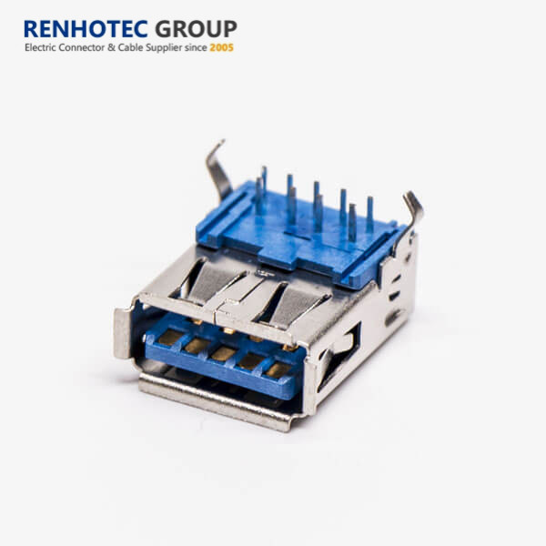 popular in 2018 usb 3.0 connector Renhotec DIP right angle sunk-typed usb cable usb flash drive