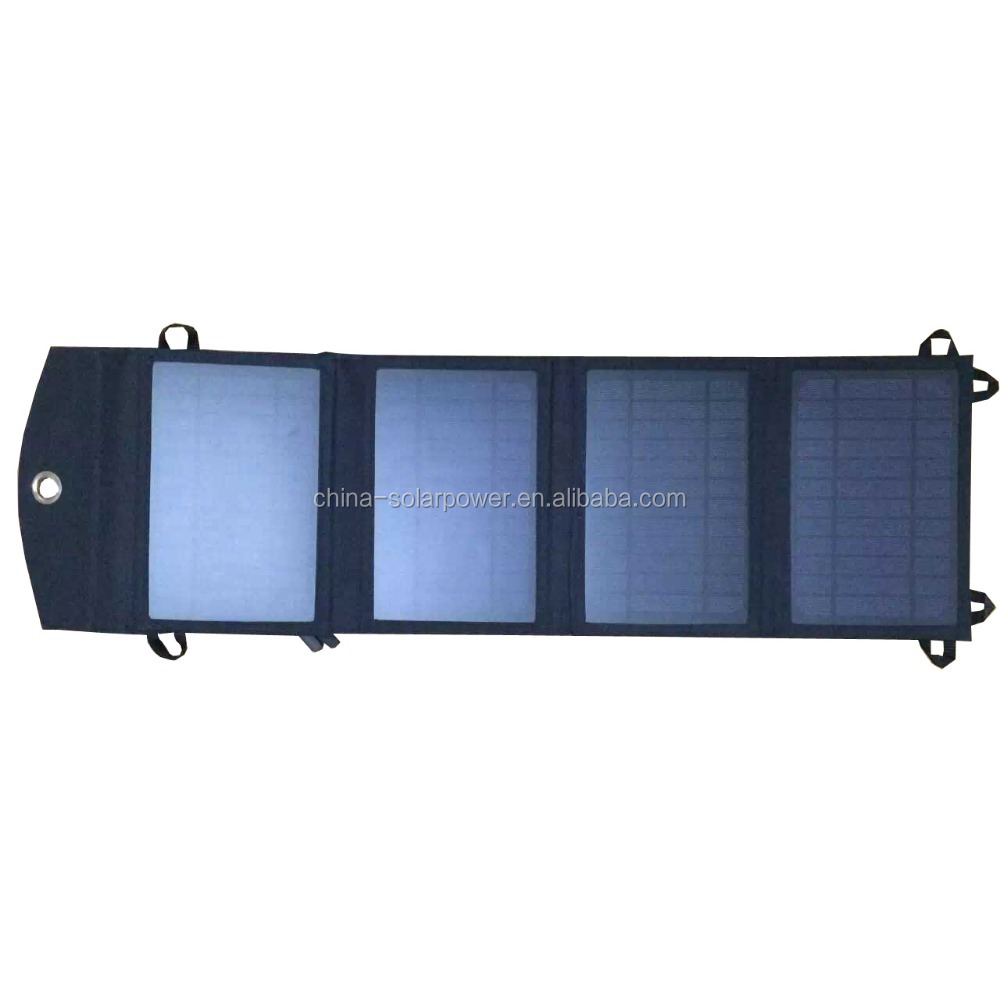 solar charger portable folding solar panel bag for 12volts battery charging