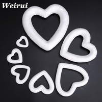 Foam material styrofoam heart wreath for wedding decoration