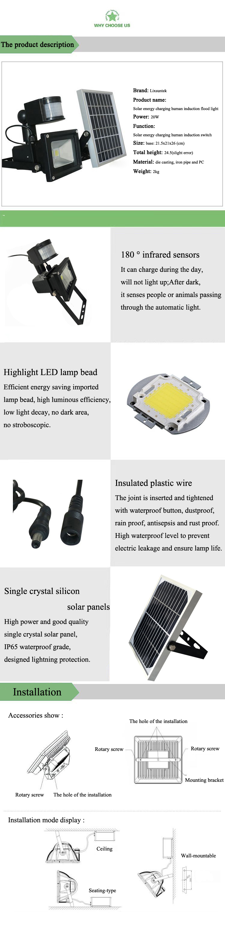 10w Lamps made in Chinese factories High waterproof level to prevent electric leakage and ensure lamp life led flood light