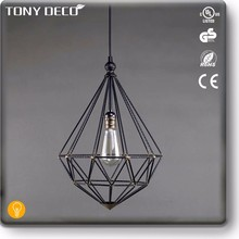 African Style Metal Geometric Cage Ceiling Lamp Factory