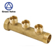 Green-GutenTop China manufacturer 3 way brass water manifold in floor heating plumbing system in heavy duty