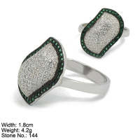 RZ3-0083 Wholesale men ring 925 sterling silver ring with green stone for men gemstone ring