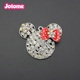 Customize jewelry Clear rhinestone mini various bow mouse head charm/pendant for children