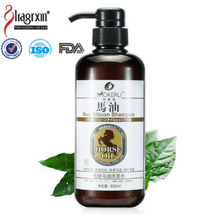 Horse oil non silicon shampoo 500ml ingredients herbal hair repairing treatment from china factory accept OEM/Private Label