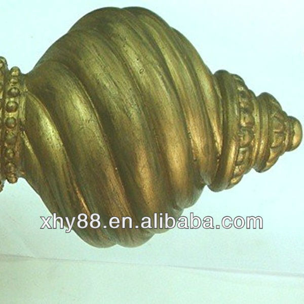 XW-056 Curtain Rod End Finial,Curtain Pole With Rotating Rod
