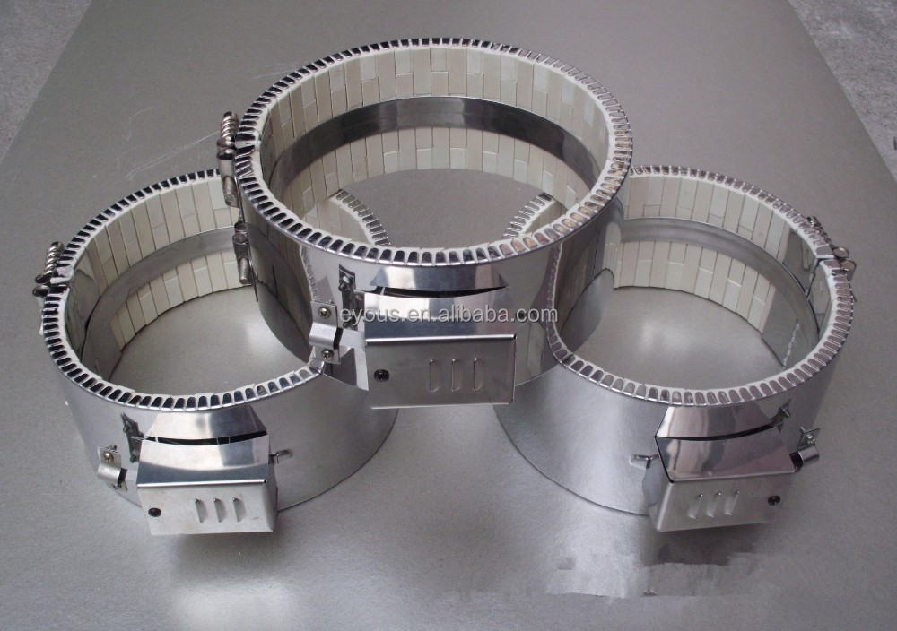 Professional customized ceramic band <strong>heater</strong>,Resistance to high temperature electric heating circle,Ceramic heating coil