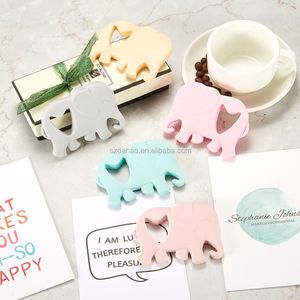 Elephant Shaped Soft Silicone Baby Teether/ Food Grade Silicone Elephant Shaped Baby Teether