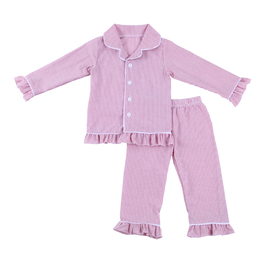 2017 seersucker autumn cotton kid children pajamas kids clothing wholesale children clothes