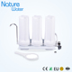 triple stage white color desk top water filter system
