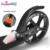 Hot new product dual shock absorber  200mm 2 PU big wheel kick scooter for adult