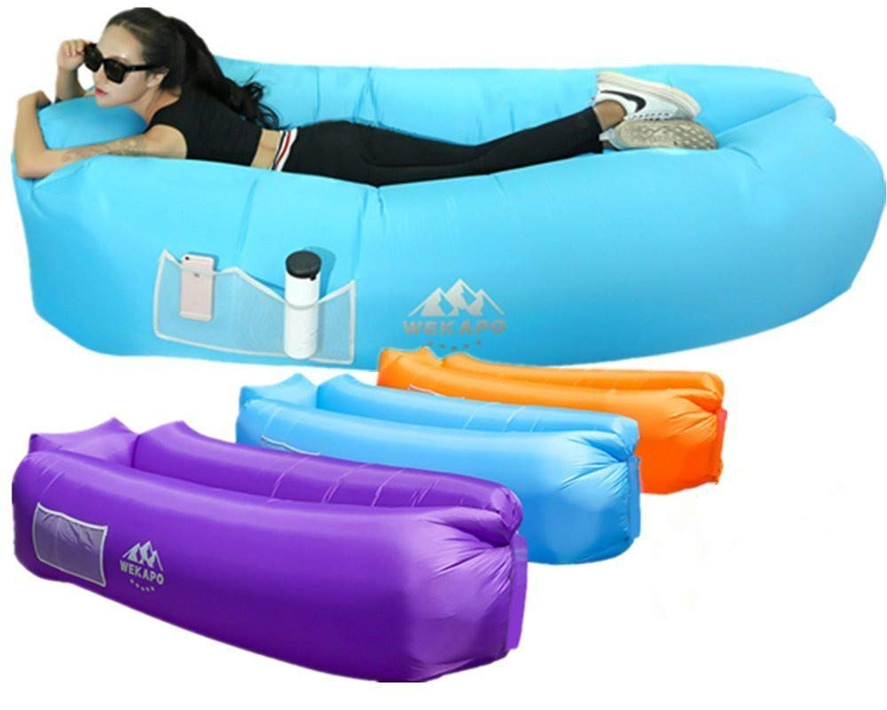 Amazon top ผู้ขาย wekapo inflatable lounger กลางแจ้ง camping lazy air lounger sleeping bags