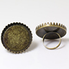 Beadsnice ID26724 component ring mountings brass sure-set round 30mm sold by PC blank rings for men