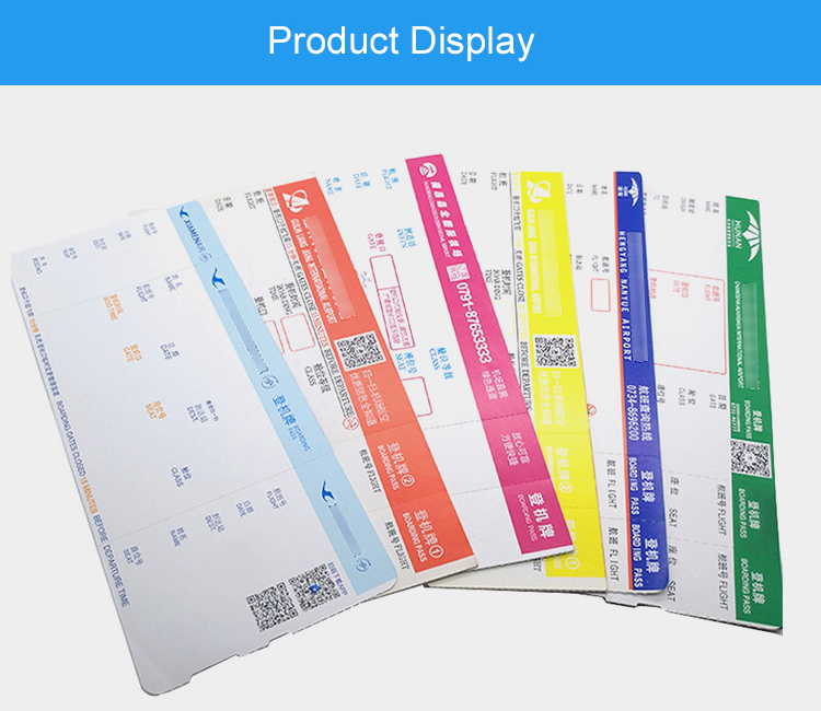 Good Price Custom Boarding Pass Airline Ticket Printing