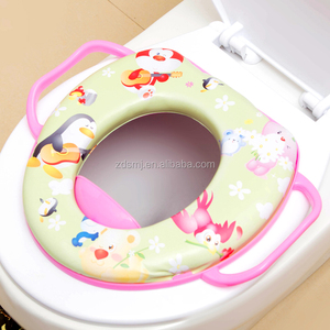 Hot baby gift kids toilet seat bidet Baby potty seat eco-friendly cushion potty seat with handel