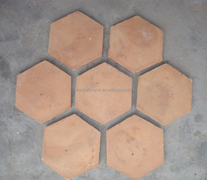 Hand Made Antique Orange Hexagon Terracotta Flooring Tiles