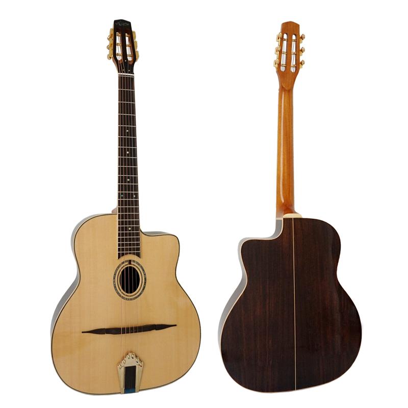 Alibaba.com / Aiersi  handmade solid wood Jazz Manouche  gypsy guitar (GP03T )