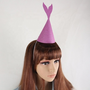 High Quality Cone Paper Party Hat/solid color party paper hat/crown party paper hat