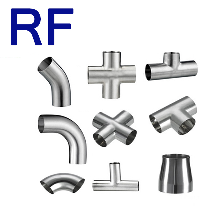 RF Sanitary Stainless Steel 45 Degree Seamless Elbow