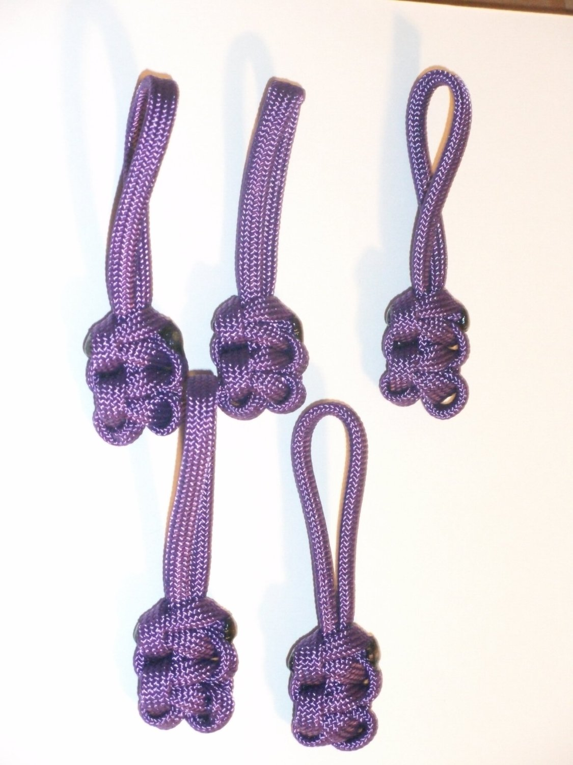 RedVex Paracord Zipper Pulls / Lanyards - Lot of 5 - ~2.5 - Purple