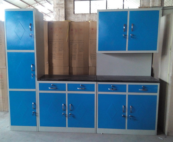 Cheap simple different color stainless steel kitchen for Cheap wall kitchen cabinets