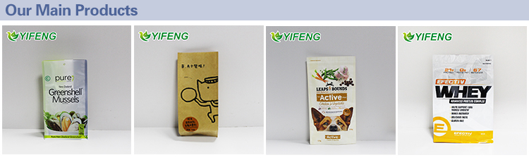 Pet Snacks With Zipper Food Bags 200 Pieces Packaging Window And Ziplock Digital Printed Stand Up Pouch