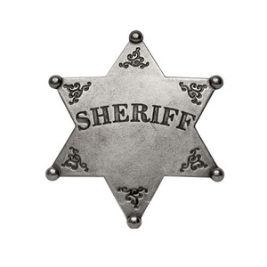 metal gold plated custom personalized sheriff star badge