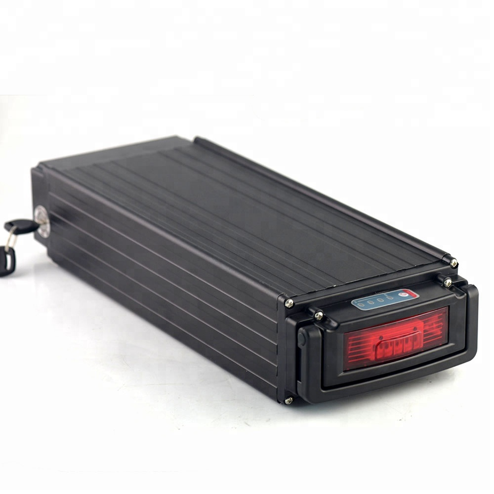 Rear rack 48v 30ah lithium ion battery pack for electric bike motor 1500w, Silver or black