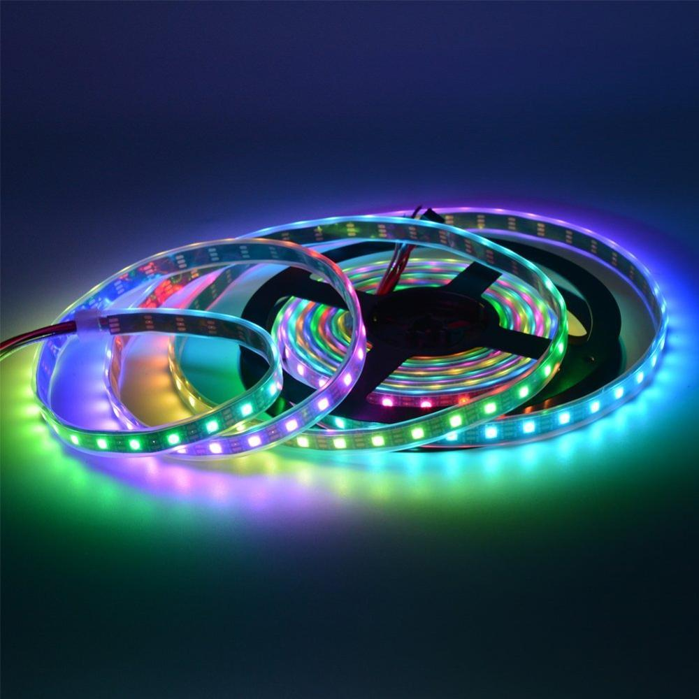 Intelligent 5volt Waterproof 5050 digital <strong>RGB</strong> 144 led strip ws2812b