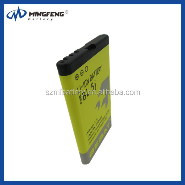 China Supplier Wholesale GB/T 18287-2013 Mobile Phone Battery for nokia BL-5j ,For Cell Phone Battery Manufacturer