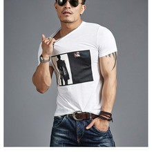 Wholesale High Quality 95 Cotton 5 Spandex White T-Shirts Screen Printing Fitness T Shirt