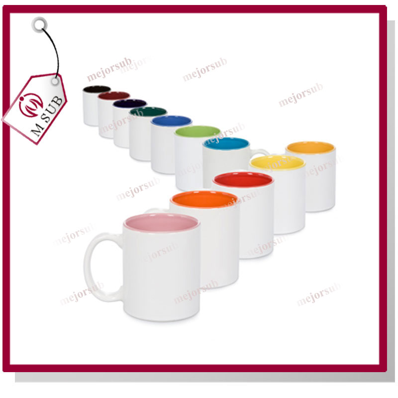 Wholesale 11oz colorful blank sublimation mug coated printing ceramic cup/promotion /custom logo/gift mugs
