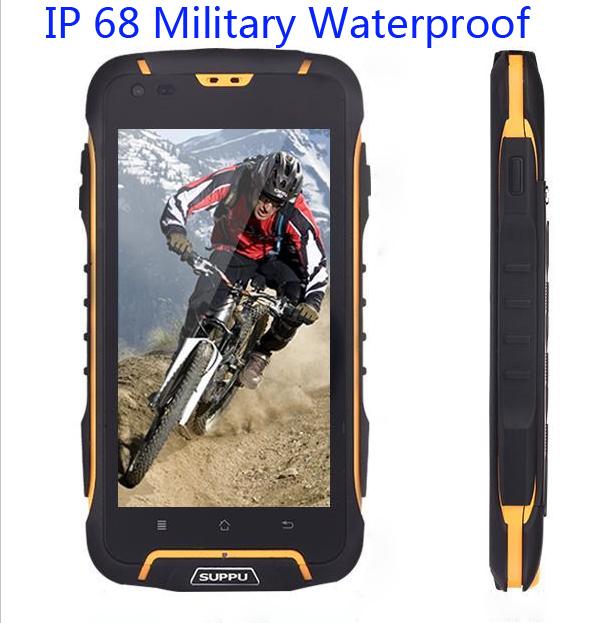 buy popular ec53e 20c56 unlocked original SUPPU F6 MTK6582 Quad Core IPS rugged Smartphone IP68  Waterproof phone GPS Android 4.4 Dustproof Shockproof