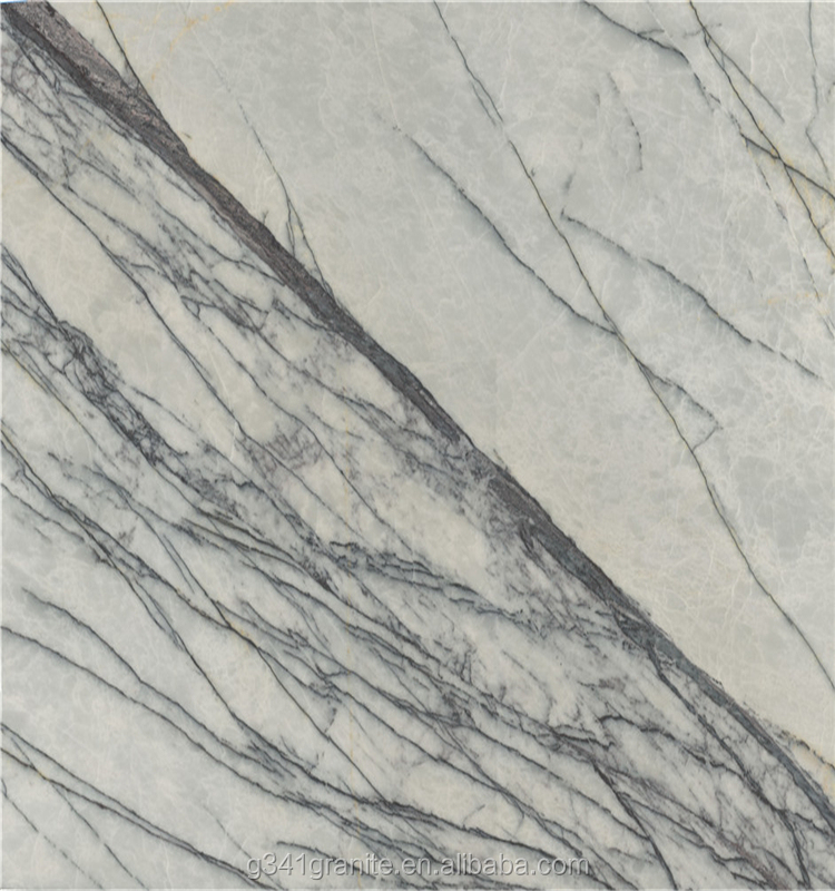 Italian ice jade marble tile Italian White Statuario Venato Marble for Bathroom
