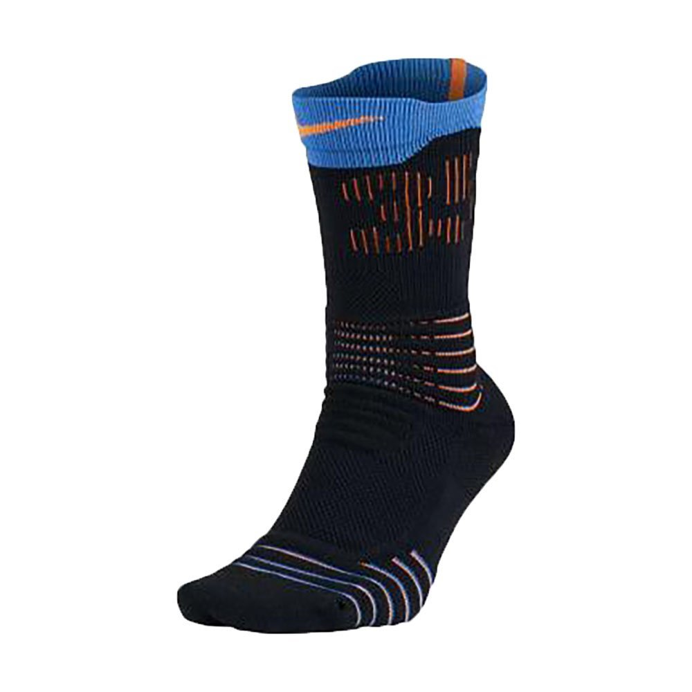 3b002e957dbc Get Quotations · Nike Men s KD Hyper Elite Crew Basketball Socks (Large (8- 12)Blk