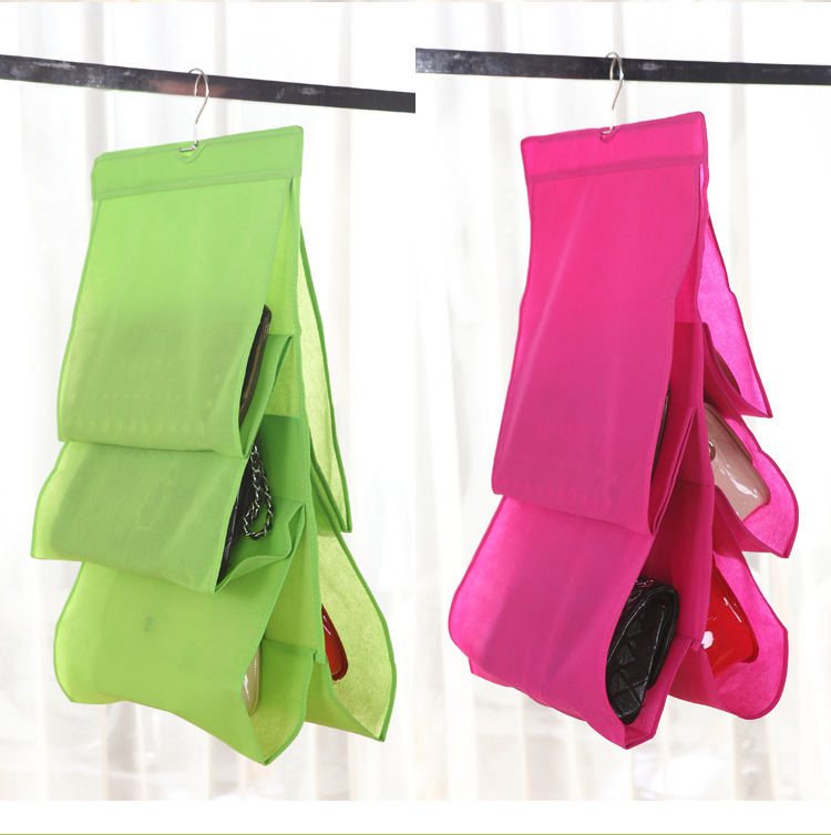 Get Quotations · Free Shipping Bag Storage Holders Household Goods  High Capacity 5 Layer Folding Bags Hanging